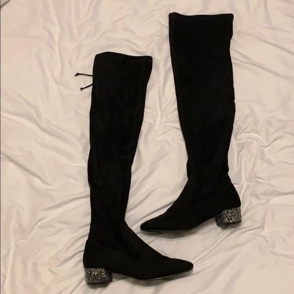 Catherine Malandrino Shoes - Glitter heeled boots✨